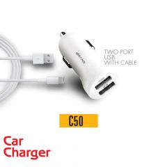 IBrand-Car Charger 2 Port USB With IPhone Cable