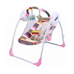MamaLove Charging Swing Chair – Pink-GS21C
