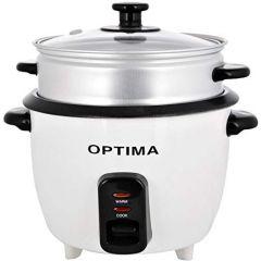Optima 1.0 Liter Rice Cooker - RC450 White & Black
